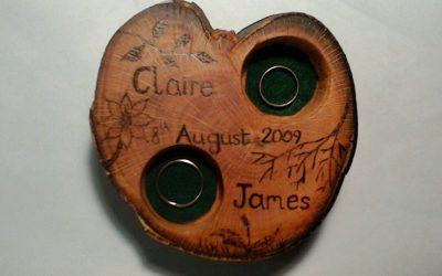 Personalised Wedding Ring & Tea Light Holder